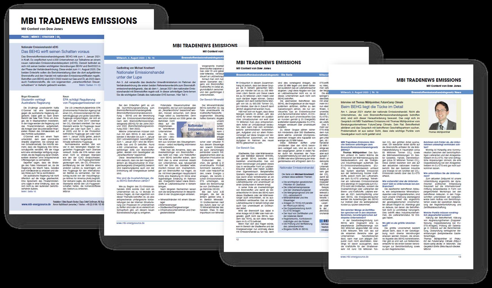 BEHG Brennstoffemissionshandelsgesetz Fachbuch | Screenshots | MBI Infosource